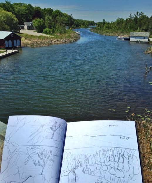 Sketching the Leelanau Narrows