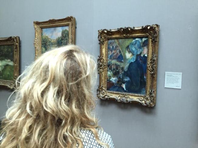 Admiring a Renoir